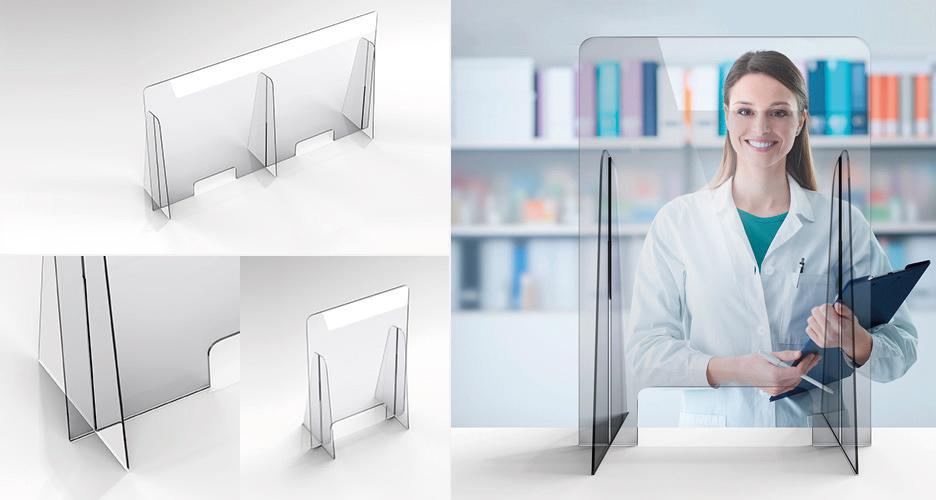 Schermi protettivi in plexiglass